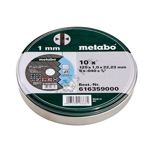 Metabo vágókorong 125x1.0x22.23 mm (10db-os fém dobozban)