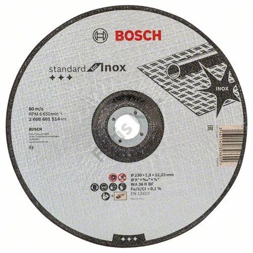 Bosch vágókorong 230x1.9 INOX hajlított