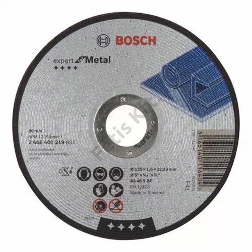 Bosch vágókorong 125x1.6mm fém egyenes