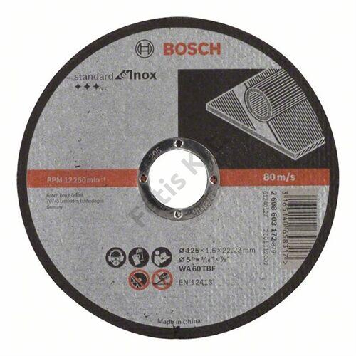 Bosch vágókorong 125x1.6mm inox egyenes