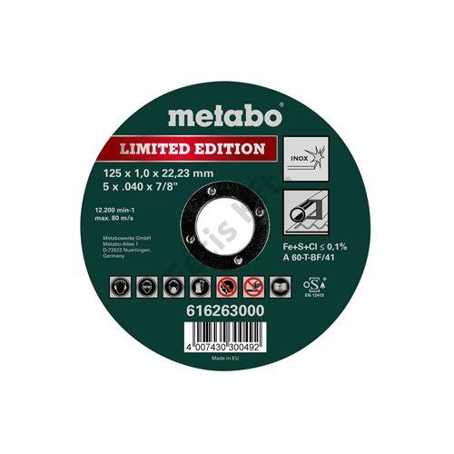Metabo vágókorong Limited Edition 125 x 1.0 x 22.23 Inox, TF 41