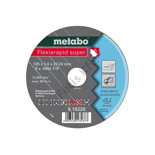 Metabo vágókorong Flexiarapid super 125x1.6x22.23 Inox, TF 41