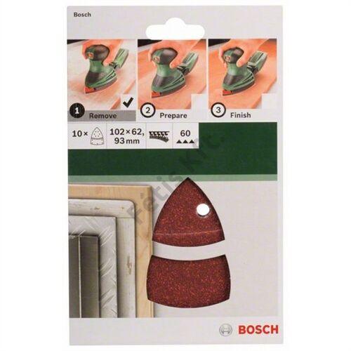 Bosch delta csiszolólap készlet 102x62/93mm P60 (10db/cs)