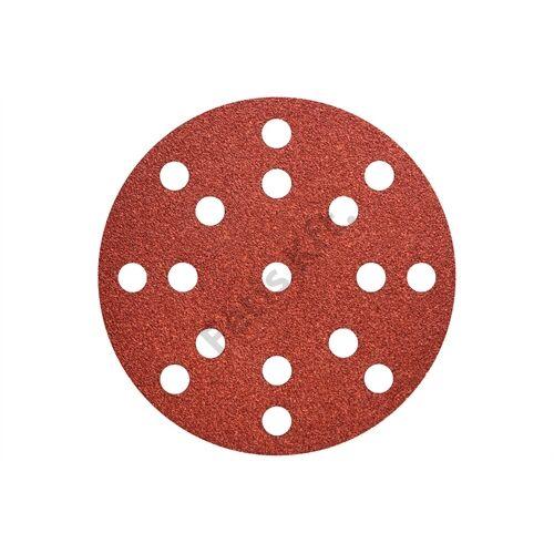 Metabo tépőzáras csiszolólap 125 mm P120, fa+fém, multi-hole 50 db