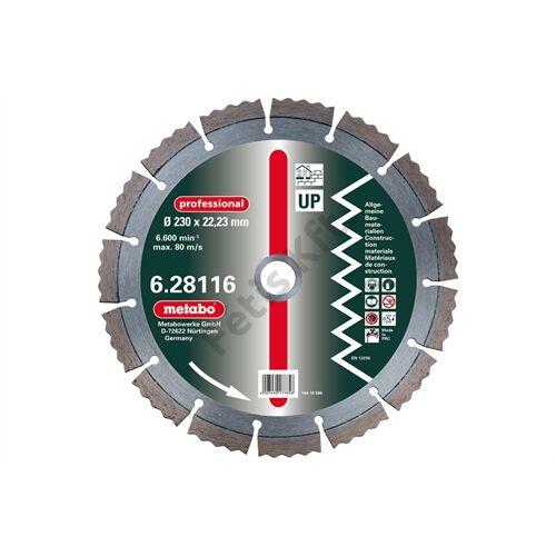 Metabo gyémánt vágókorong 230x2.5x22.23mm, professional, UP, univerzális  2 db