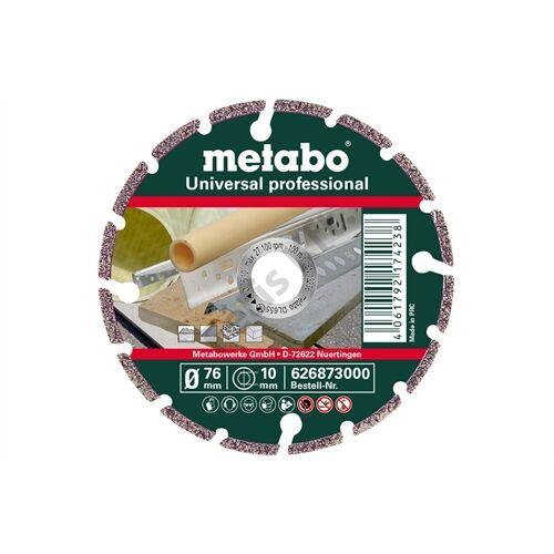 Metabo gyémánt vágókorong 76x10.0mm, UP, Universal professional