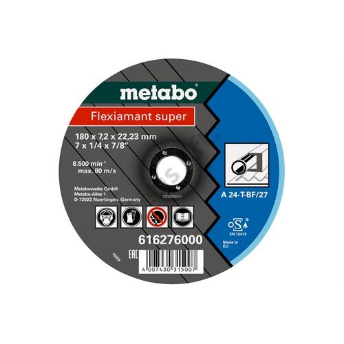 Metabo csiszolókorong Flexiamant super 180x7.2x22.23 Stahl, SF 27