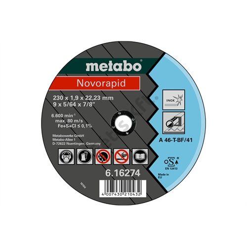Metabo vágókorong Novorapid 115 x 1.0 x 22.23 Inox, TF 41