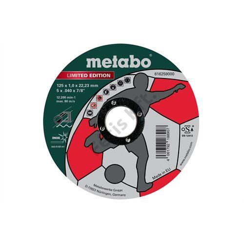 Metabo vágókorong Soccer 125x1.0x22.23mm Inox 500