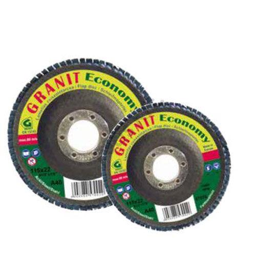 Gránit lamellás csiszolótányér 125x22.23 Z40  kúpos (Economy) cirkon szemcse