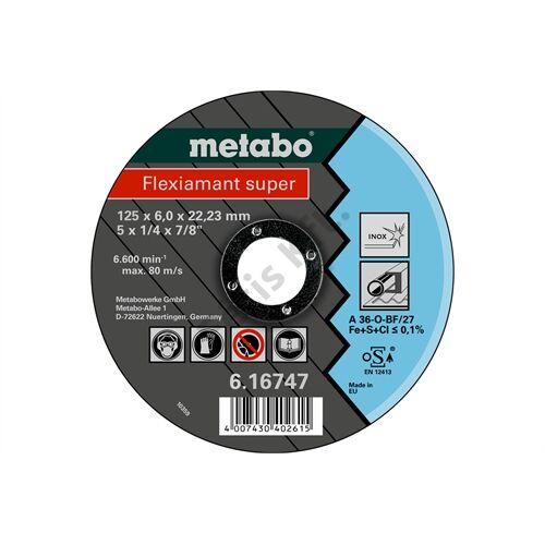 Metabo csiszolókorong Flexiamant super 125x6.0x22.23 Inox, SF 27