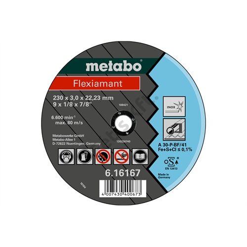 Metabo vágókorong Flexiamant 230x3.0x22.23 Inox, TF 41