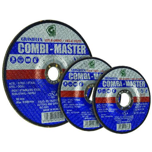 Gránit csiszolókorong 115x3.5x22.23 INOX 61A 46S7BF 80 (Combi-Master)