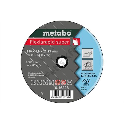 Metabo vágókorong Flexiarapid super 230x1.9x22.23 Inox, TF 41