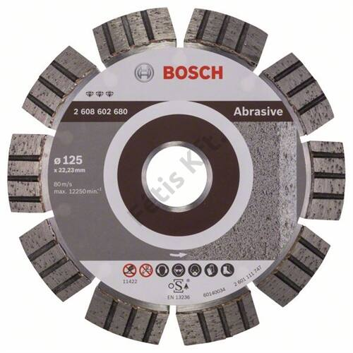 Bosch vágókorong, gyémánt 125 mm Best for abrasive