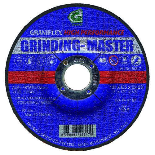 Gránit csiszolókorong 115x6.5x22.23 62A24S7BF 80 (Grinding-Master)