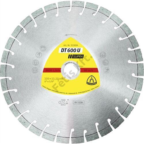 Klingspor gyémánt vágókorong 115x2.4x22.23mm P DT 600 U K=Rövid fogazás