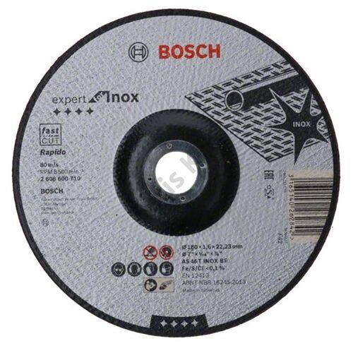 Bosch vágókorong 180x1.6mm INOX