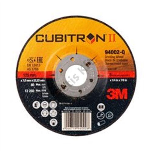 3M Cubitron II tisztítókorong, T27 süllyesztett, 180 mm x 7 mm x 22.23 mm