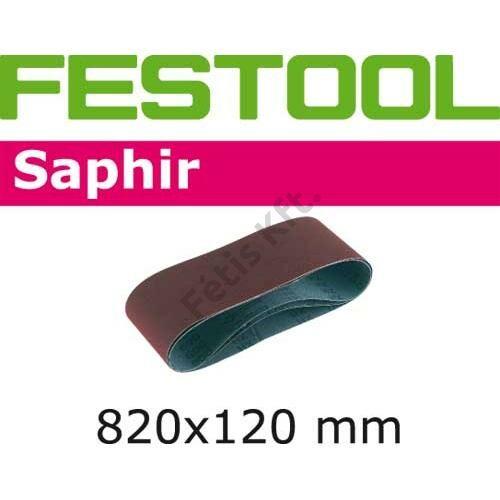 Festool csiszolószalag Saphir 820x120-P100-SA/10 (10db/cs)