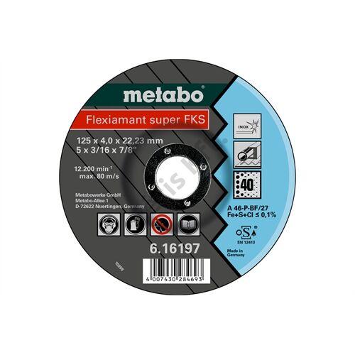 Metabo csiszolókorong Flexiamant Super FKS 60, 125x4.0x22.23 Inox, SF 27