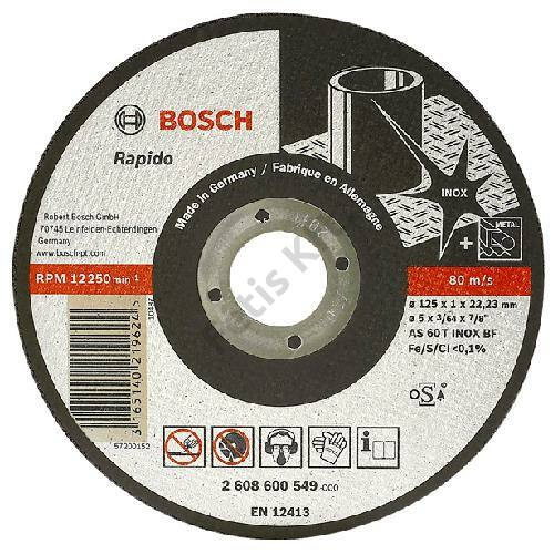 Bosch vágokorong 230x2 mm rapido egyenes