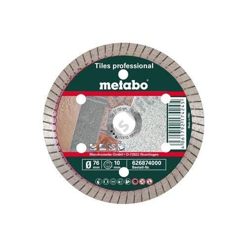 Metabo gyémánt vágókorong 76x10.0mm, TP, Fliesen professional