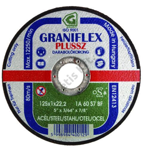 Gránit vágókorong 125x3.2x22.23 1A36S7BF 80 (Graniflex Plussz)