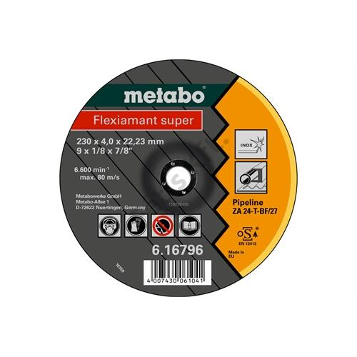 Metabo csiszolókorong Flexiamant super 115x4.0x22.23 Pipeline, SF27