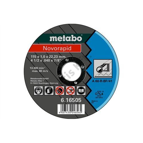 Metabo vágókorong Novorapid 115 x 1.0 x 22.23 mm, acél, TF 41